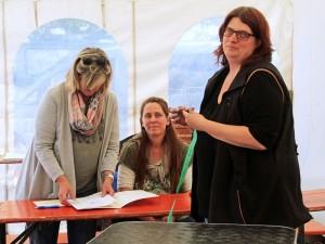 Das Richtertem Silke Oberndorfer mit Isa und Andrea